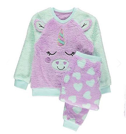 ciepła polarowa piżama jednorożec 12-13l 158cm