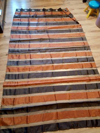 Zasłona czerwono brązowa 145x250 cm