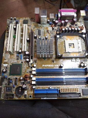 Материнка Asus P4P800-vm