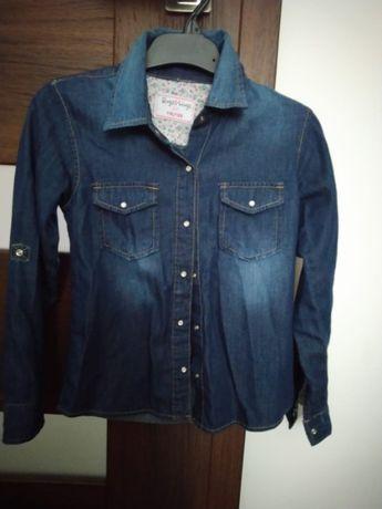 koszula jeansowa dziewczęca 116/122
