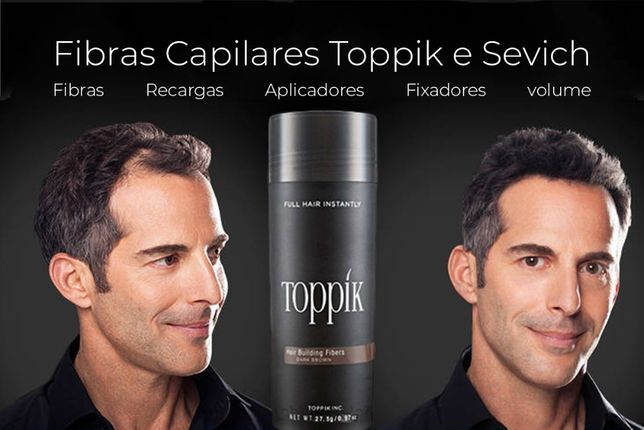TOPPIK - Fibras capilares para queda e falhas de cabelo / calvice | Pó