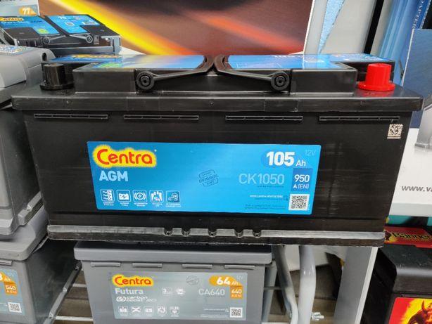 Akumulator Centra Start-Stop AGM CK1050 12V 105Ah 950A P+ Krak EK1050