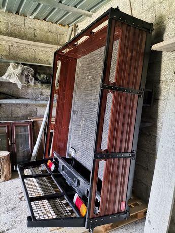 Caixa para carrinha ferro e madeira