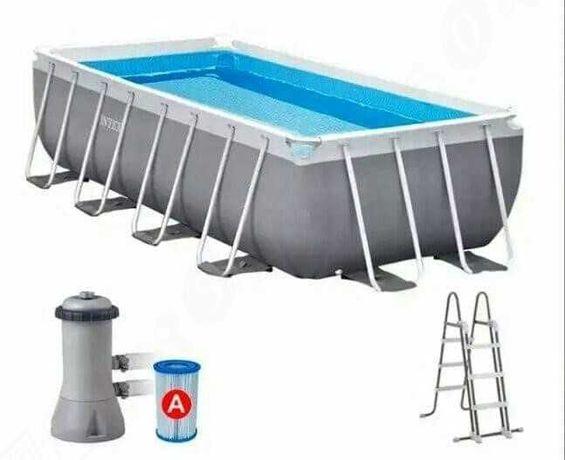Каркасный бассейн фирмы Интекс, 400х200х122 с фильтр-насосом