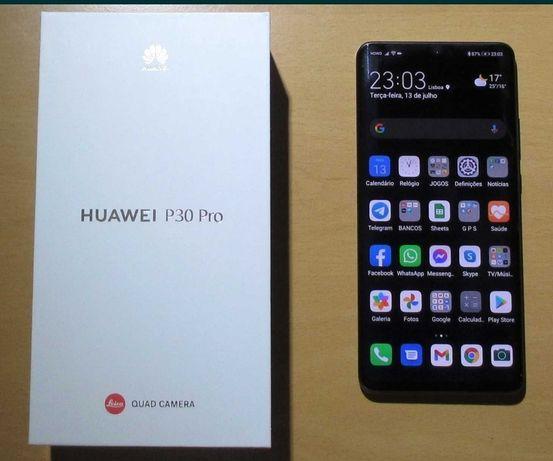 Huawei P30 Pro 8gb ram e 128gb de rom, com serviços Google