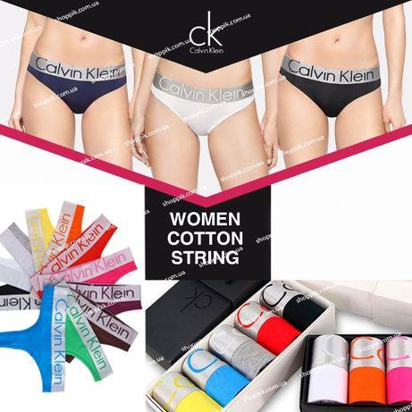 Женские трусики стринги Calvin Klein STEEL 5 штук