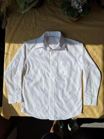 Классная фирменная белая рубашка M&S, на 6-7л, р.122-128, в сост.новой