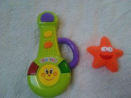 Zabawka dla niemowlaka grająca gitara i gratis