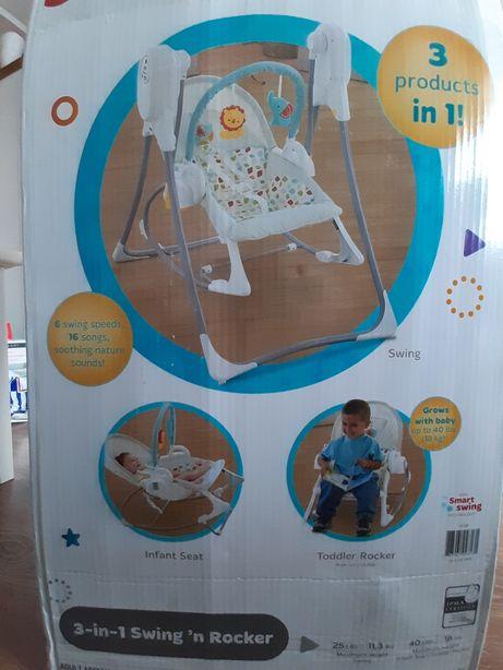 Huśtawka/fotelik/bujaczek, 3w1 Fischer  Price