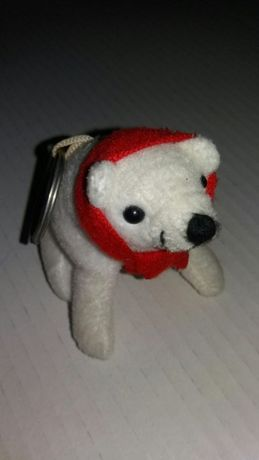 Maskotka miś niedźwiedź polarny breloczek do kluczy śliczny jak nowy
