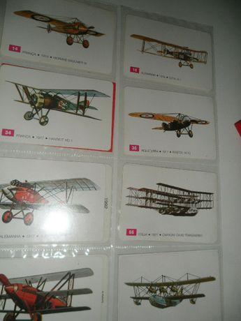10 Calendarios de bolso Avioes Antigos 1989