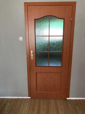 drzwi wewnętrzne pokojowe x3 z ramą i maskownica + łazienka