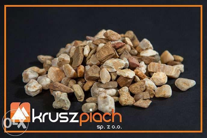 Żwir Kwarcowy Brązowy od 8 do16mm 8-16 ozdobny Piaski Kamienie Kora Dąbrowa Górnicza - image 1