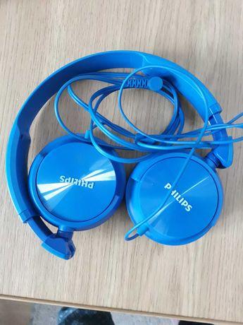 Słuchawki nauszne Philips SHL3060BL Niebieskie na kabel
