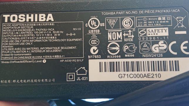 Zasilacz laptop Toshiba