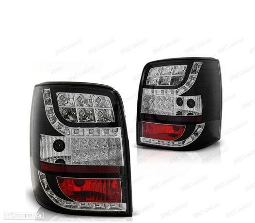 FARÓIS TRASEIROS LED VW PASSAT 3BG 00-04 BLACK / RED PRETO / VERMELHO