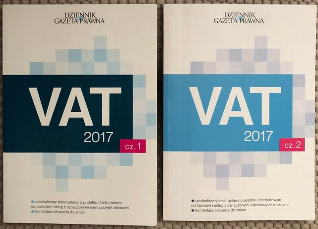 VAT 2017 cz. 1, cz. 2