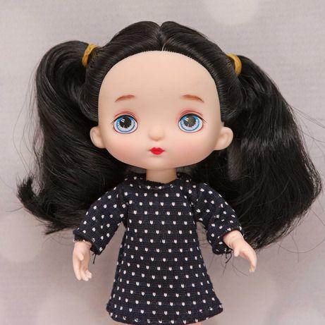 Laleczka lalka bjd 1/8 16cm ruchome stawy czarne włosy