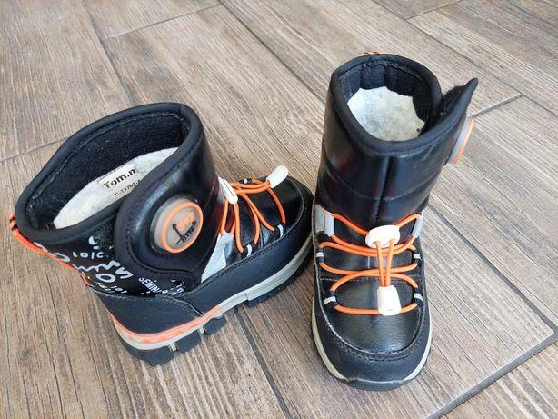Детские зимние ботинки дутики сапоги овчина 24 Tom.M (стелька 15 см)