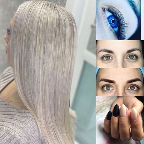 Стрижки  фарбування волосся кератин ботокс маникюр  педикюр