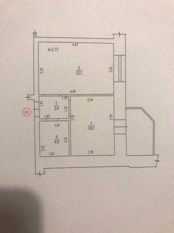 Продам 1 ком. кв. в новом кирпичном доме на Леваде.