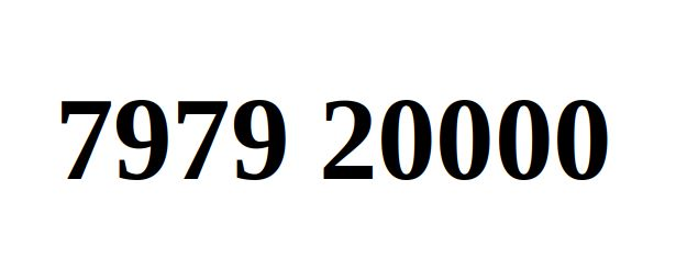 Ładny Numer Starter Orange 7979. 20000