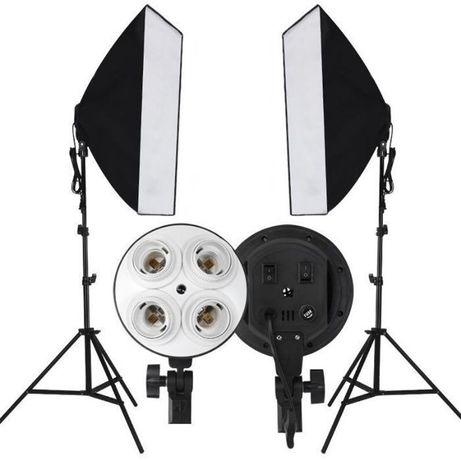 Постоянный студийный свет софтбокс 2 шт. (50х70) + 2 штатива + сумка