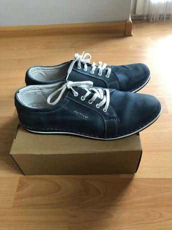Skórzane buty męskie- rozmiar 43