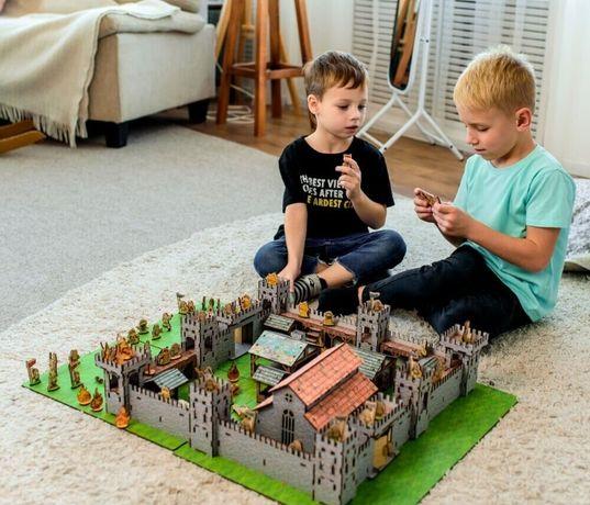 Деревянная Крепость! Замок-конструктор MINI-3 Nestwood рыцарский дом