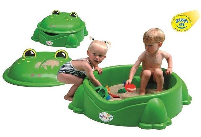 Piaskownica 2w1 żabka zielona żaba duża NOWA