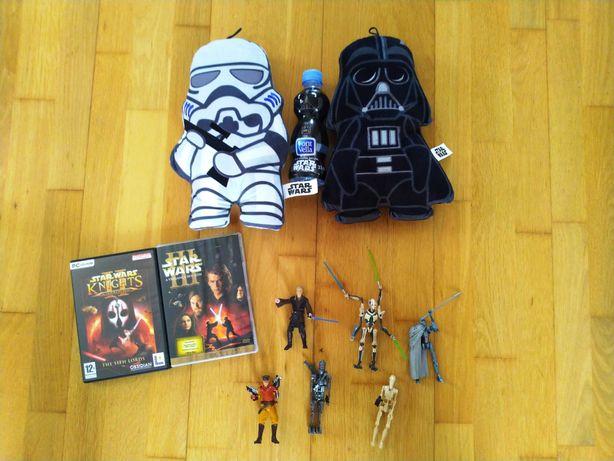 STAR WARS Conjunto 9 Figuras + DVD Star Wars: III + Jogo PC