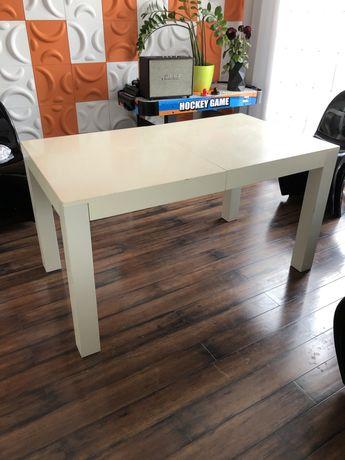 Stół biały rozkładany drewniany