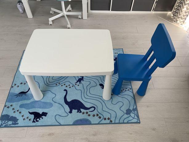 Stolik i krzesło mammut mamut Ikea
