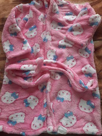 Дитячий бавовняний халат з капішоном на 134