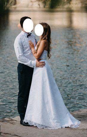 Suknia ślubna projektu Macieja Domańskiego rozmiar 34 XS