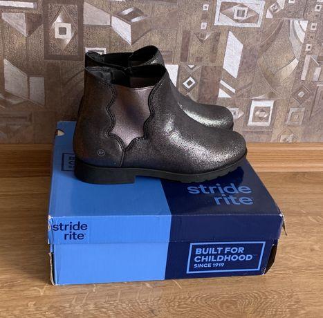 Stride Rite кожаные ботинки размер стелька 24см 35,5-36