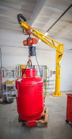 ŻURAW słupowy obrotowy 500 kg z UDT - DS System