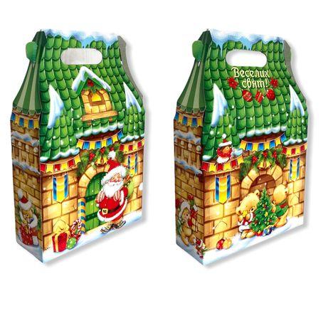 Упаковка для подарков на новый год и николая до 700г