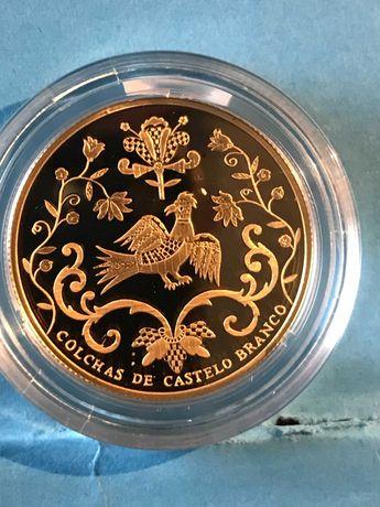 """Moeda em ouro de 2,50€ """"Colchas de Castelo Branco"""""""