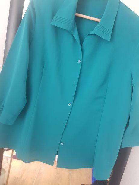 Koszula 46 xxxxl turkusowa niebieska elegancka