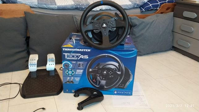 kierownica Thrustmaster T300RS gw. do 12/2022, jak nowa, PC, PS3/PS