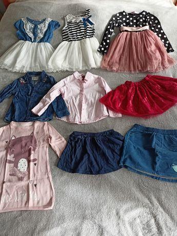 Paka ubrań dla dziewczynki r. 86-104
