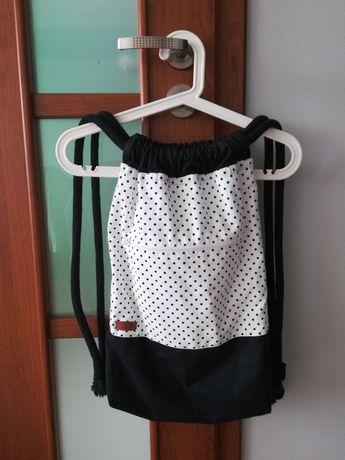 Plecak worek w kropeczki