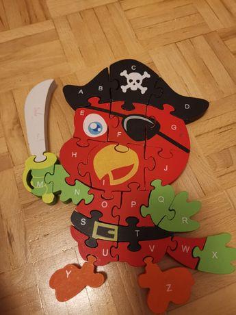 Puzzle papuga pirat