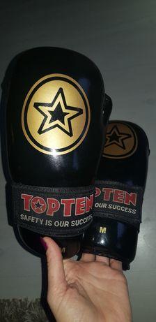 Rękawice bokserskie semi contact taekwondo karate top ten r. M
