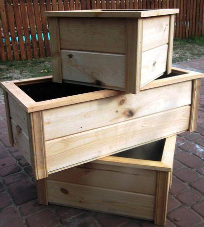 Donice Doniczki drewniane
