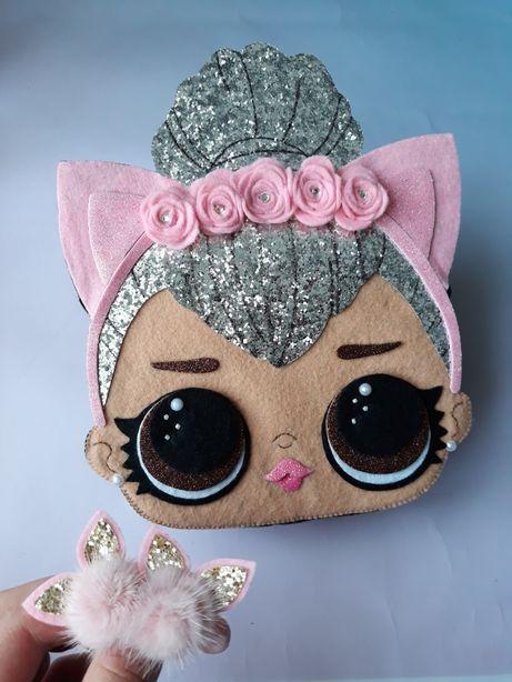 Сумочка лол ручной работы кукла лол из фетра сумочка на заказ