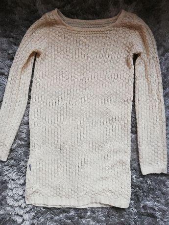 Sweterek długi beżowy