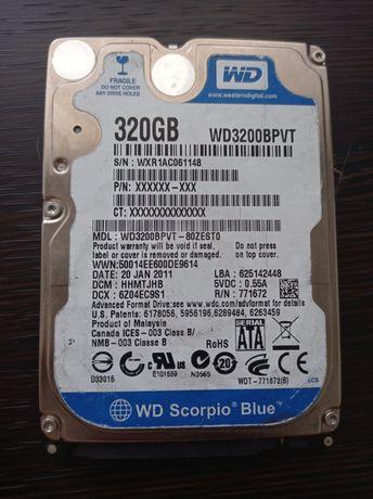 Продам жёсткий диск ноутбук WD 320Gb Sata 2,5