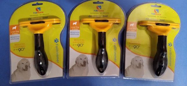 Чесалка Фурмиратор щетка для удаления у собак подшерстка и шерсти нов